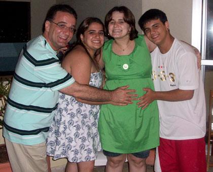 Vovô Ado, madrinha, mamãe e Titio Junior